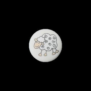 Schäfchenknopf, Weiß