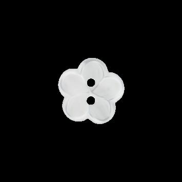 Kinderknopf `Blume` - Weiß