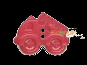 Kinderknopf - Feuerwehrauto, Pink
