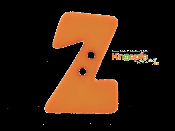 Buchstabenknopf Z - orange