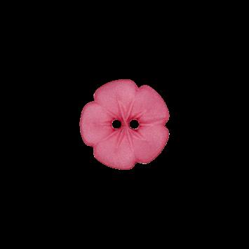 Kinderknopf `Blume`, 11mm, pink