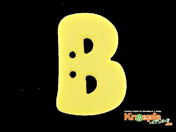 Buchstabenknopf B - gelb
