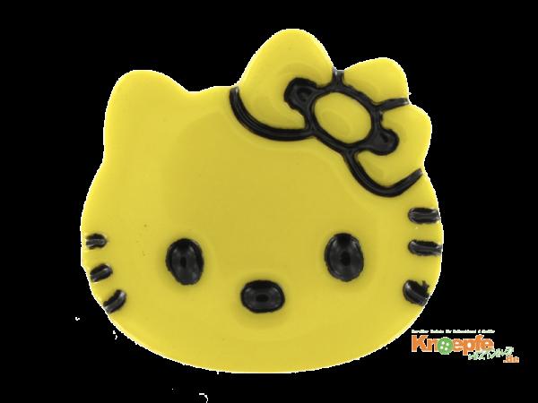 Kinderknopf `Katzenkopf`- Gelb