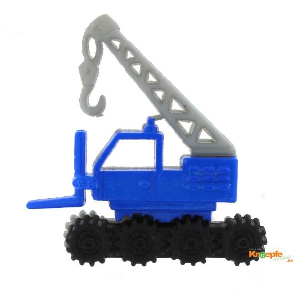 Kinderknopf - Kranwagen, Blau