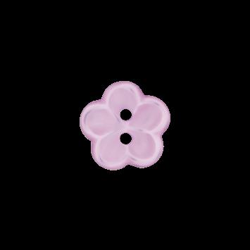 Kinderknopf `Blume` - Flieder