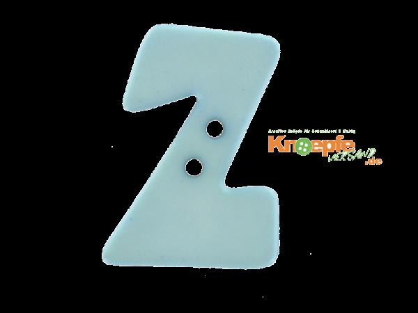 Buchstabenknopf Z - hellblau