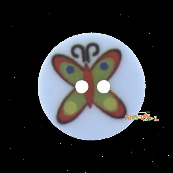 Kinderknopf `Schmetterling`- Hellblau