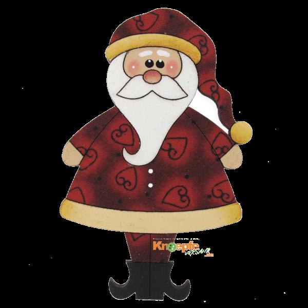 Holzknopf `Weihnachtsmann`- 80mm