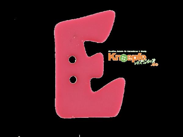 Buchstabenknopf E - pink