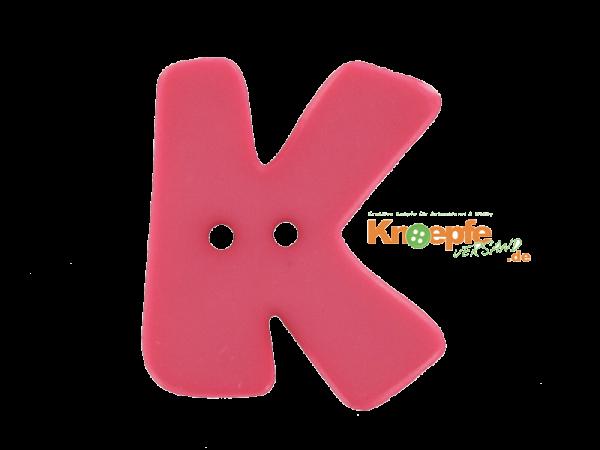 Buchstabenknopf K - pink