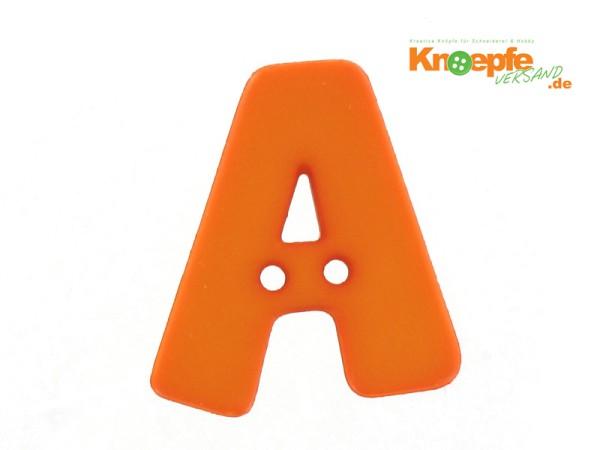 Buchstabenknopf A - orange