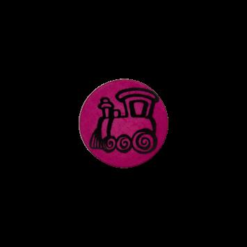 Kinderknopf - Lokomotive, Pink