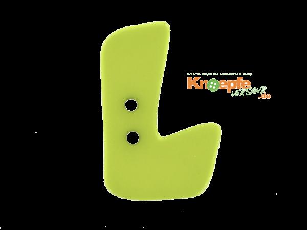 Buchstabenknopf L - grün