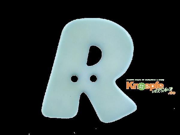 Buchstabenknopf R - hellblau