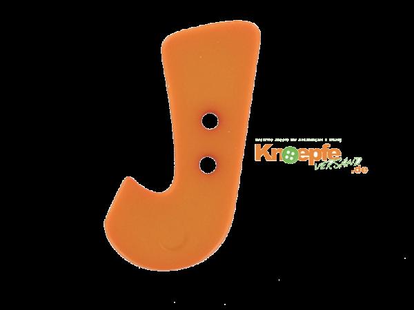 Buchstabenknopf J - orange