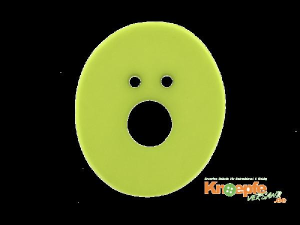 Buchstabenknopf O - grün