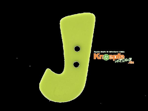 Buchstabenknopf J - grün