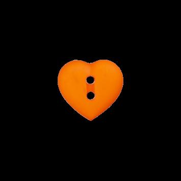 Kinderknopf `Herz`- Orange