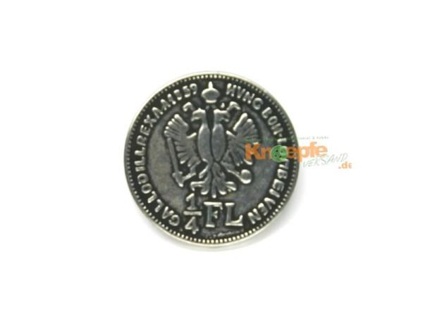 Münzknopf `1/4 Gulden` - 15mm
