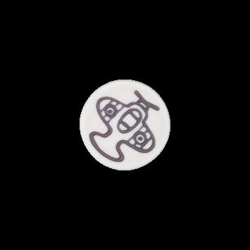 Kinderknopf `Flugzeug`- Grau