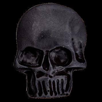 Metallknopf `Totenkopf`, 30mm