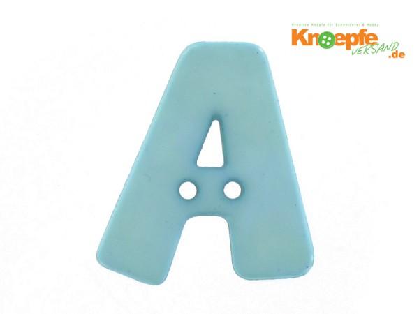 Buchstabenknopf A - hellblau