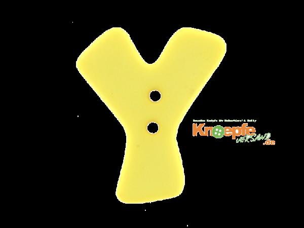 Buchstabenknopf Y - gelb