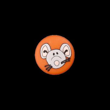 Kinderknopf`Maus`, orange