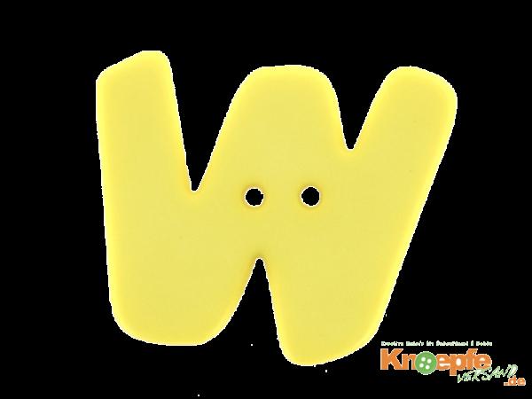 Buchstabenknopf W - gelb