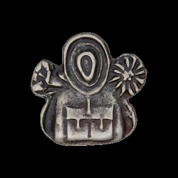 Trachtenknopf `Rucksack`