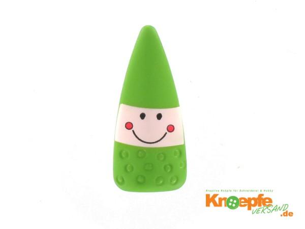 Kinderknopf `Zauberzwerg` - Grün