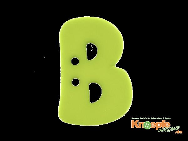 Buchstabenknopf B - grün