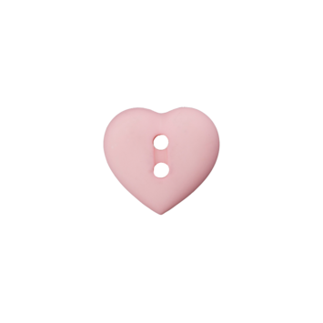 Kinderknopf `Herz`- Rosa