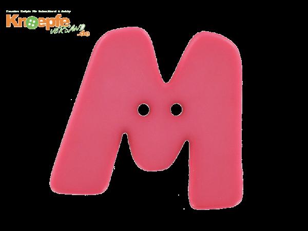 Buchstabenknopf M - pink