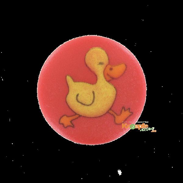 Kinderknopf `Entchen` - Rot