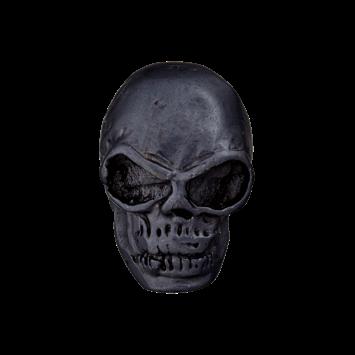 Metallknopf `Totenkopf`, 25mm