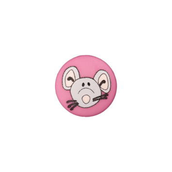 Kinderknopf`Maus`, pink