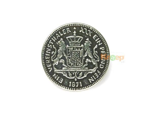Metallknopf `Vereinsthaler 1871`, 20mm