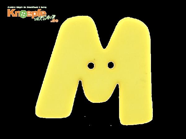 Buchstabenknopf M - gelb