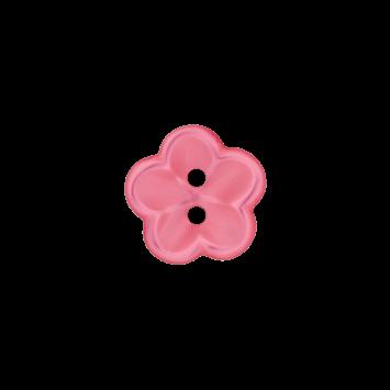 Kinderknopf `Blume` - Pink