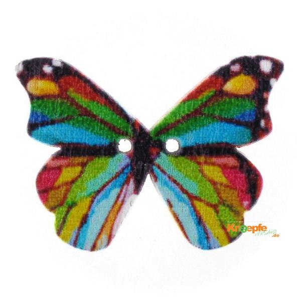 Holzknopf `Bunter Schmetterling`