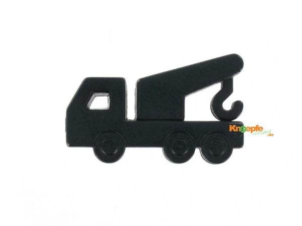 Kinderknopf - Kranwagen, Schwarz