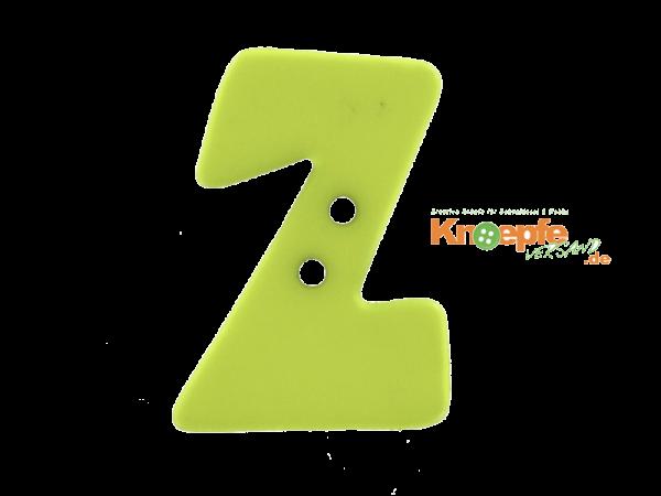 Buchstabenknopf Z - grün