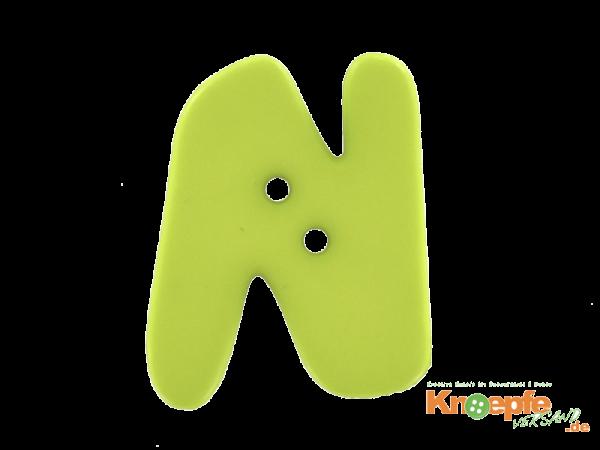 Buchstabenknopf N - grün