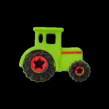 Kinderknopf - Traktor, Grün
