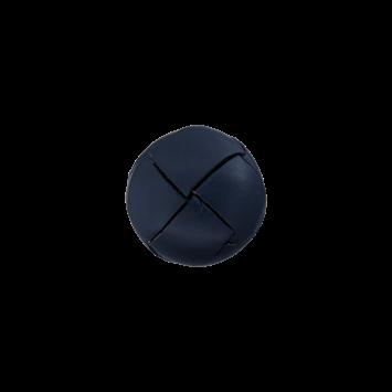 Lederknopf `geflochten, marine`, 18mm