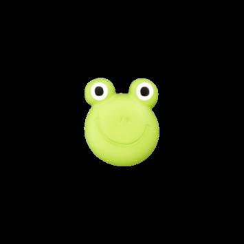 Kinderknopf `Frosch`, hellgrün