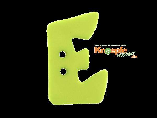 Buchstabenknopf E - grün