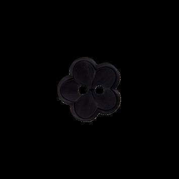 Kinderknopf `Blume` - Schwarz