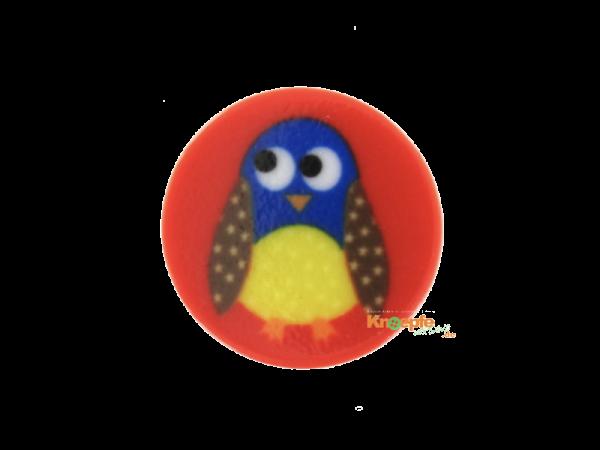 Kinderknopf `Piepmatz` - Rot